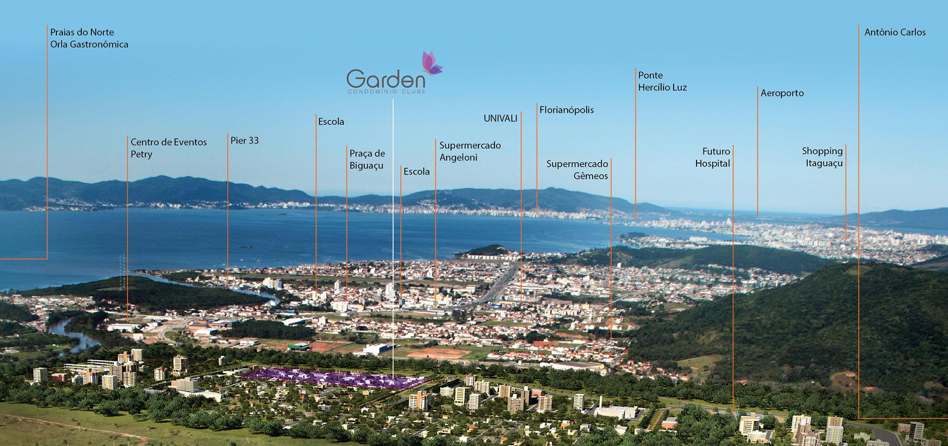 Mapa De Localização De Pontos De Vetor Localização De: Garden Condominio Clube